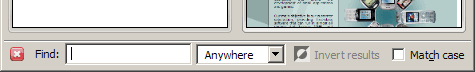 The find bar is shown at the bottom of the tab or window