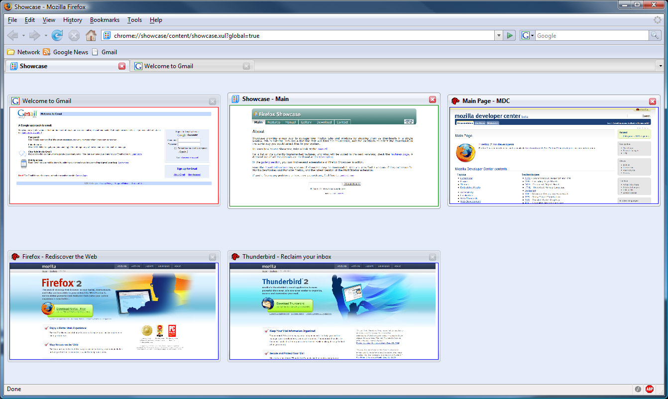 Firefox Showcase full screenshot
